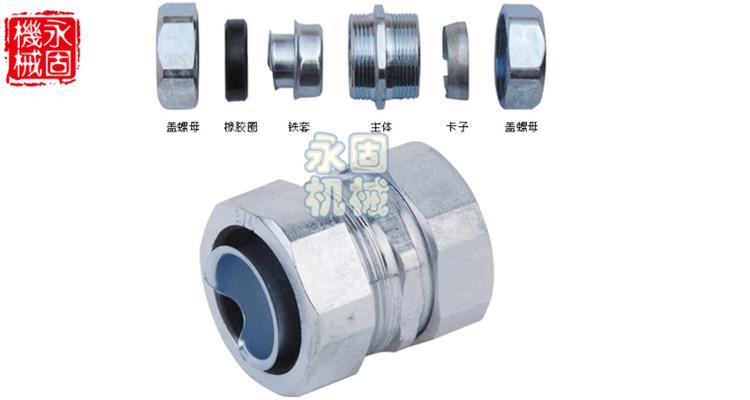 镀锘自固式金属软管接头产品图片