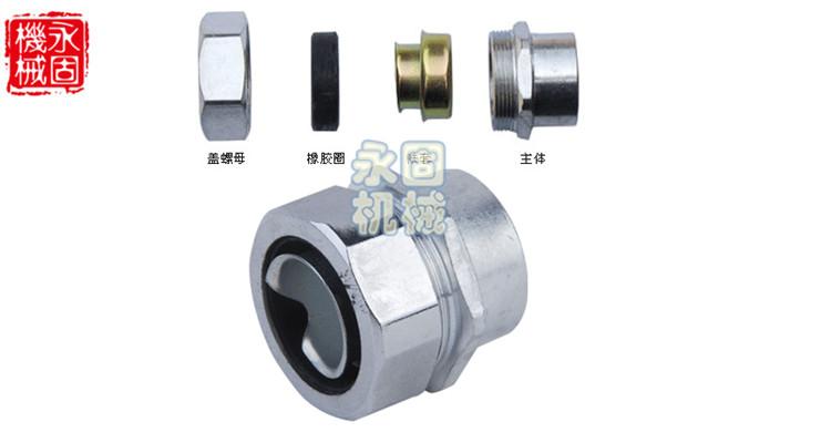 镀锘内牙DPN金属软管接头产品图片